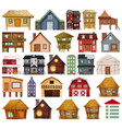 set different house style vector image