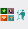 set of medecine icons patient with dropper baby vector image vector image