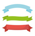 set of ribbons tapes frame vector image