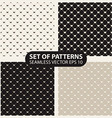 set seamless graphic patterns hearts vector image