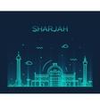 Sharjah skyline linear style vector image vector image