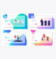 social distancing landing page template set vector image