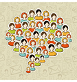 Social media bubble people crowd vector image