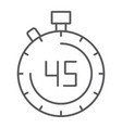stopwatch thin line icon countdown and time vector image vector image