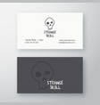 strange skull abstract sign or logo and vector image