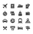 tour and travel icon set vector image vector image