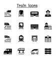 train icons set graphic design vector image vector image