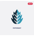 two color peppermint icon from nature concept vector image
