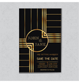 Wedding Invitation Card in Art Deco Design vector image vector image