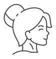 woman face profile line icon sign vector image vector image