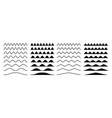 zigzag borders jagged wavy decorations serrate vector image