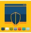 Flat design internet security guard vector image