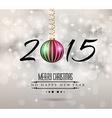 2015 flat style new year modern background vector image vector image