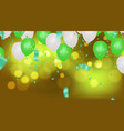 abstract background with shining green white vector image vector image