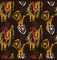 african art seamless pattern with giraffe animal vector image