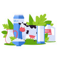 animal farm environmentally friendly dairy vector image vector image