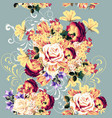 beautiful seamless wallpaper pattern with rose vector image vector image