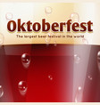 beer festival oktoberfest banner or vector image vector image
