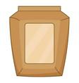 big cement bag icon cartoon style vector image vector image
