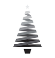black christmas tree vector image vector image