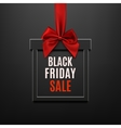 black friday sale square banner in form gift vector image