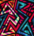 bright labyrinth seamless pattern with grunge vector image