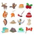 Canada icons cartoon vector image vector image