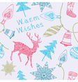 Card with deers and christmas decorations vector | Price: 1 Credit (USD $1)