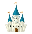 cartoon fairytale castle vector image vector image