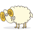 cartoon of funny happy ram vector image vector image