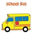 Cartoon of school bus vector image