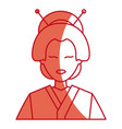 character japanese girl geisha traditional vector image