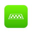 checker taxi icon digital green vector image