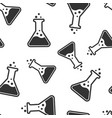chemistry beakers sign icon seamless pattern vector image vector image