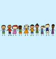 children from all over the world holding hands vector image