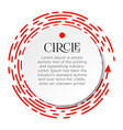 circle infographic bright red dotted line under vector image vector image