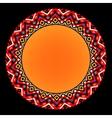Colorful ethnic sun geometric aztec circle vector image vector image
