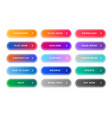 colorful web buttons pack for different purposes vector image vector image