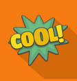comic boom cool icon flat style vector image vector image