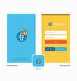 company secure internet splash screen and login vector image
