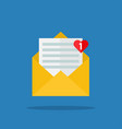 concept of incoming email message vector image vector image