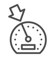 cruise control line icon dashboard vector image