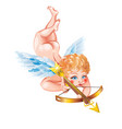 cupid with a crossbow vector image vector image