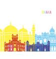 dhaka skyline pop vector image vector image