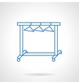 Dress hanger rack blue flat line icon vector image vector image