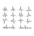 ecg sinusoidal pulse lines frequency heartbeat vector image