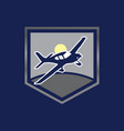 elegant light airplane related shield emblems vector image
