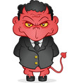 evil business devil cartoon character vector image