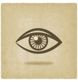 eye symbol old background vector image vector image