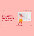 failed sale strategy website landing page vector image vector image